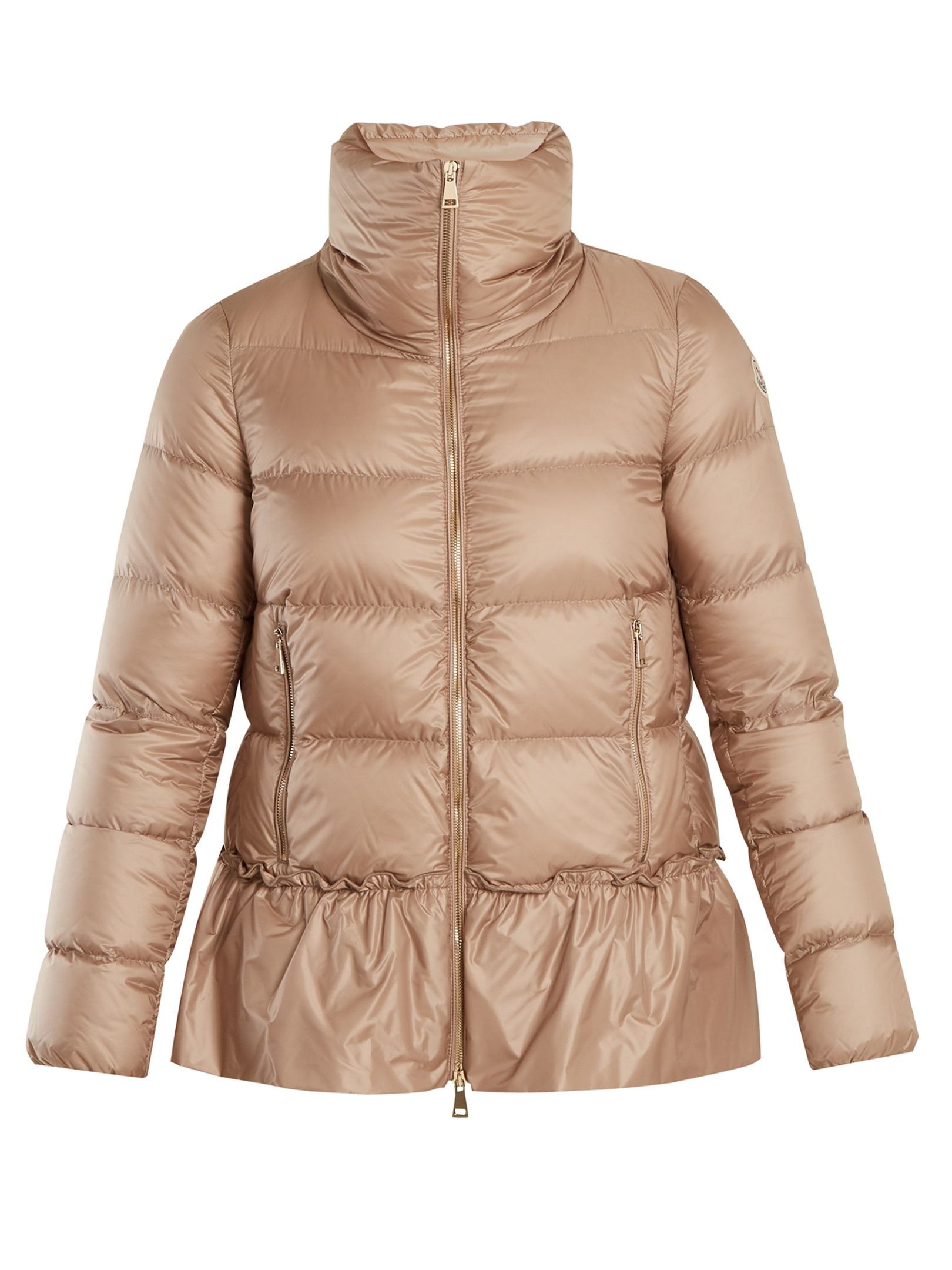 842925733 MONCLER Anet ruffled-hem quilted down coat.  moncler  cloth ...