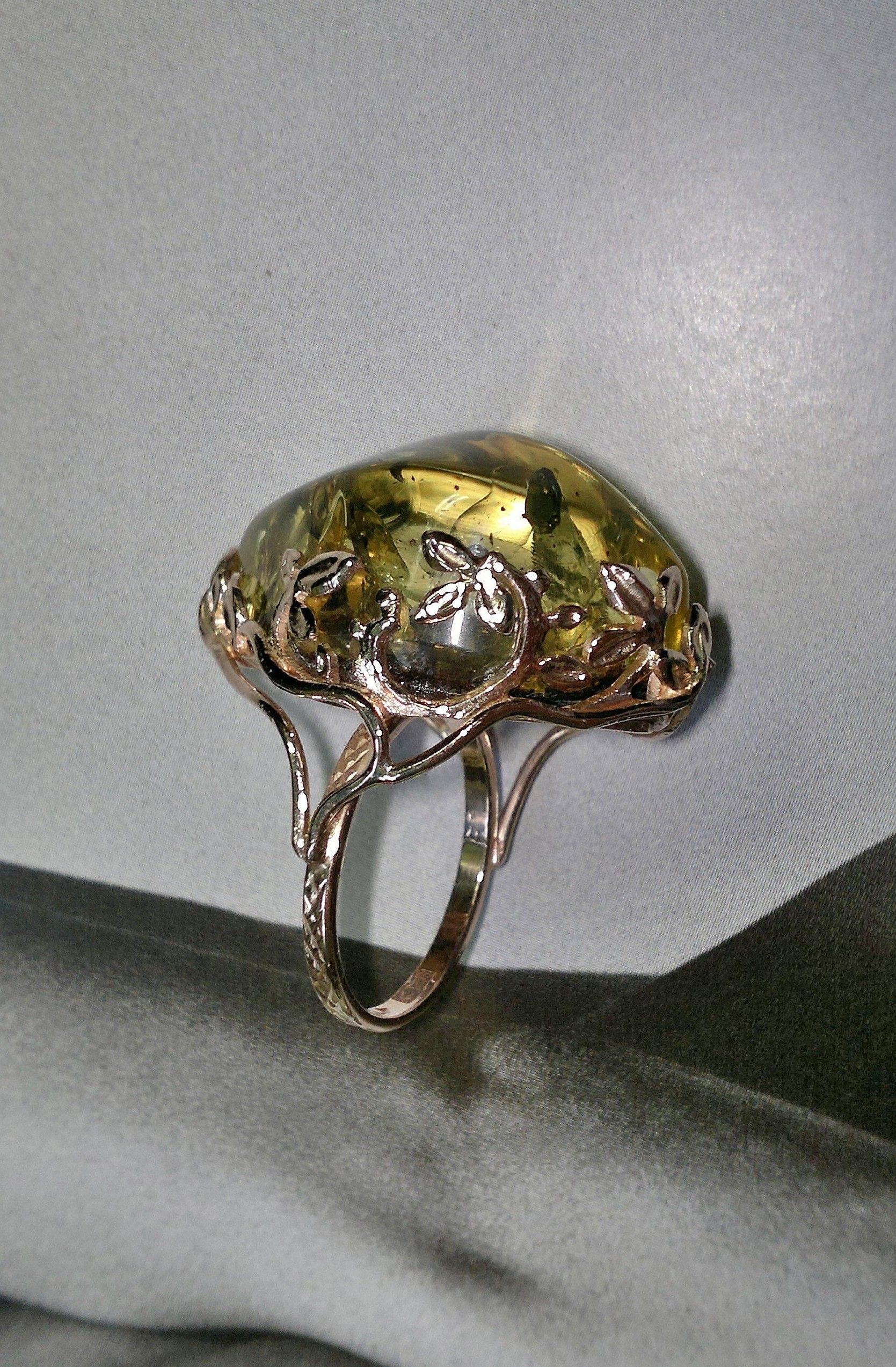 Серебряное кольцо с янтарем БАЛТИЙСКОЕ ЗОЛОТО 51130044: розовое серебро,  янтарь — купить в интернет-магазине ...   2546x1669