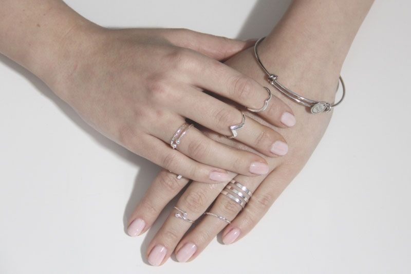 Silber Ring -triangle-