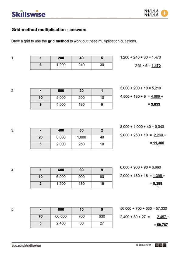 Grid Method Multiplication Multiplying Decimals Multiplying Decimals Worksheets Decimals Worksheets
