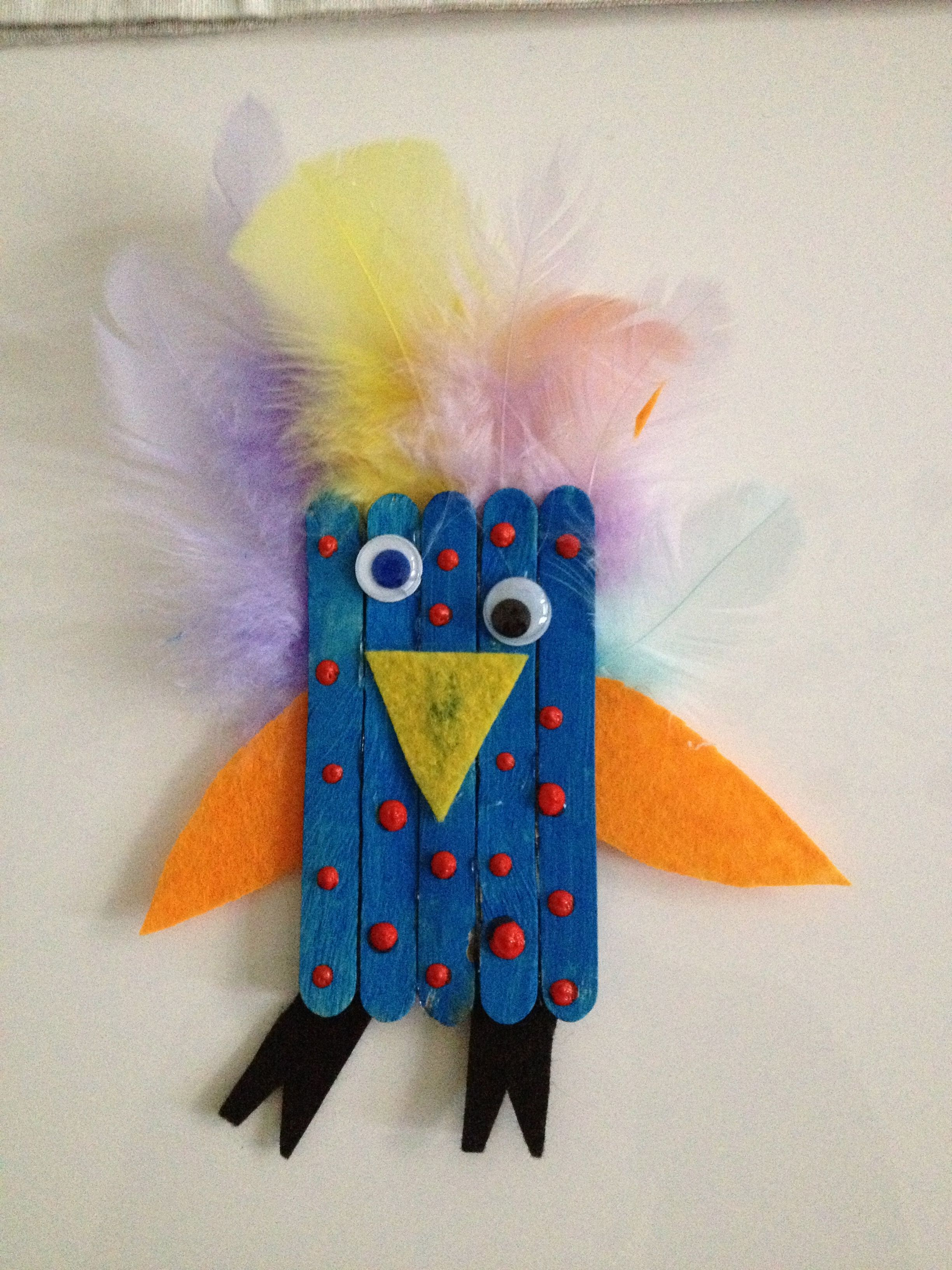 Oiseau Baton A Glace Bricolage Enfant
