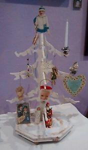 Weihnachtsbaum Holz Watte Statt Federbaum Shabby Chic Jdl