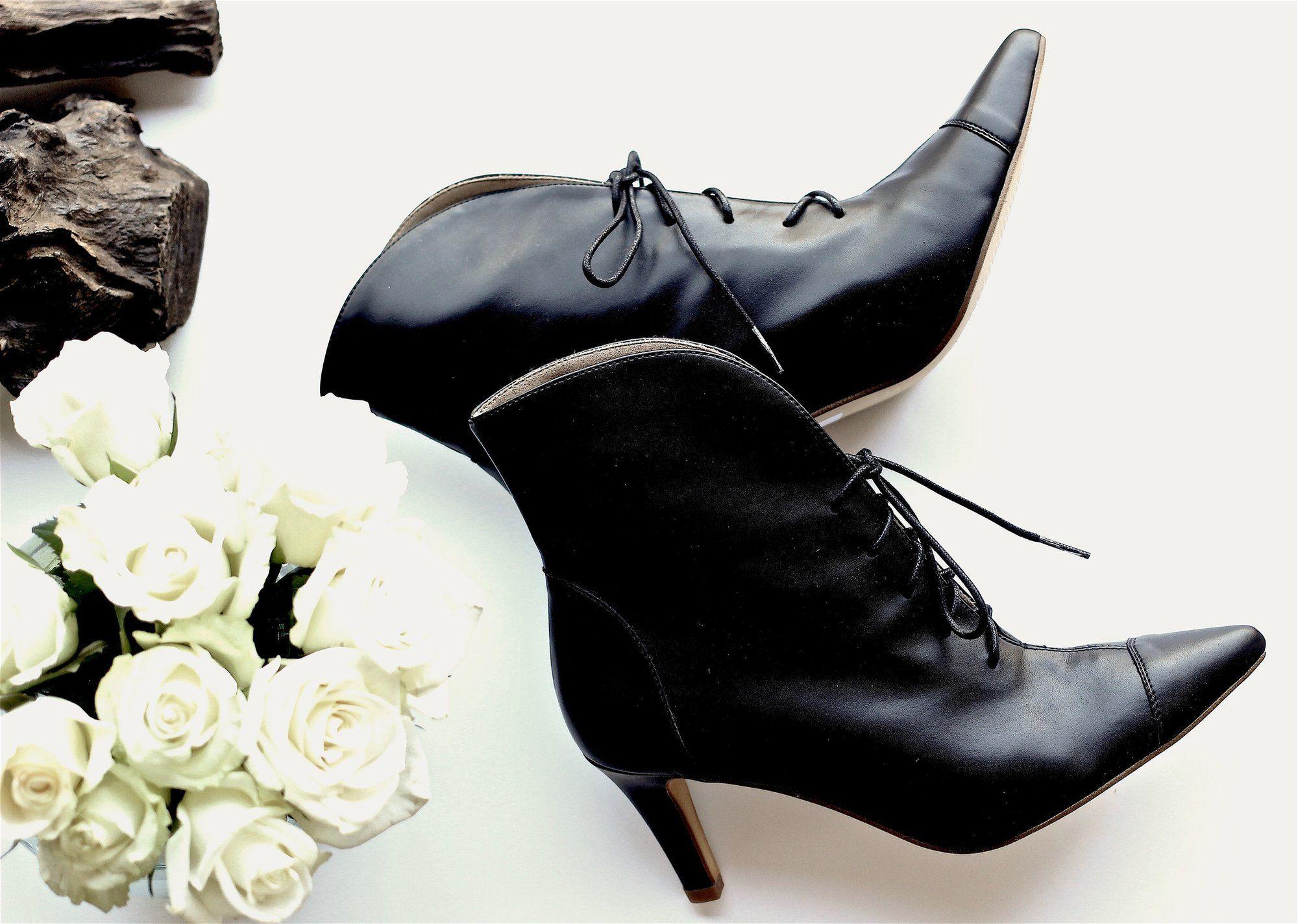Paris Lace-Up Heel Bootie - BHAVA NY