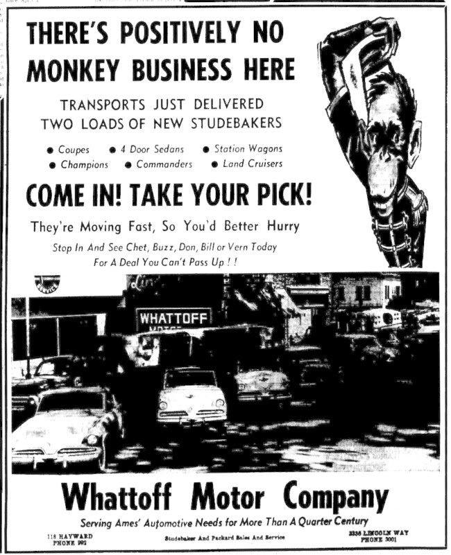 Ames Car Dealers >> Studebaker Dealer Ad Vintage Car Dealerships Classic Cars