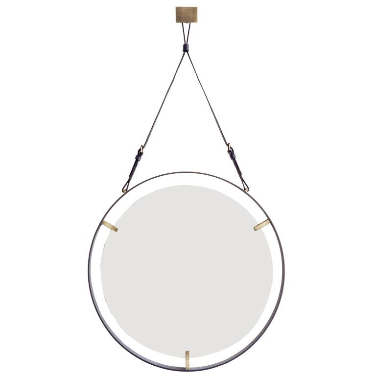 flatbar round mirror by william emmerson from a unique collection 60s Bedroom Furniture flatbar round mirror by william emmerson from a unique collection of antique and modern wall