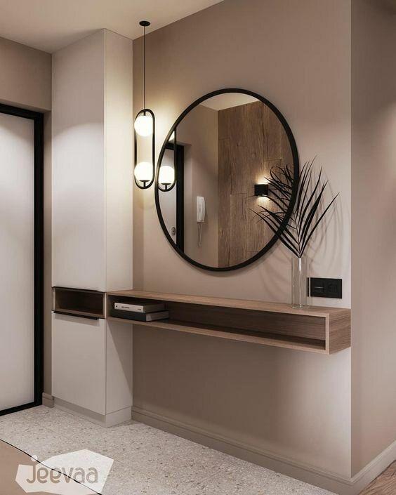 Сложные оттенки серого и бежевого для стен современного интерьера