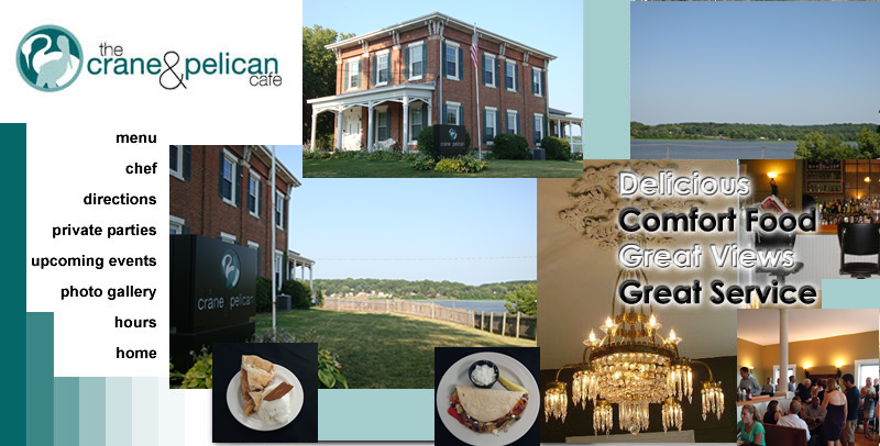 Welcome To Crane And Pelican Cafe Leclaire Iowa Casual Dining With A View Of The Mississippi River