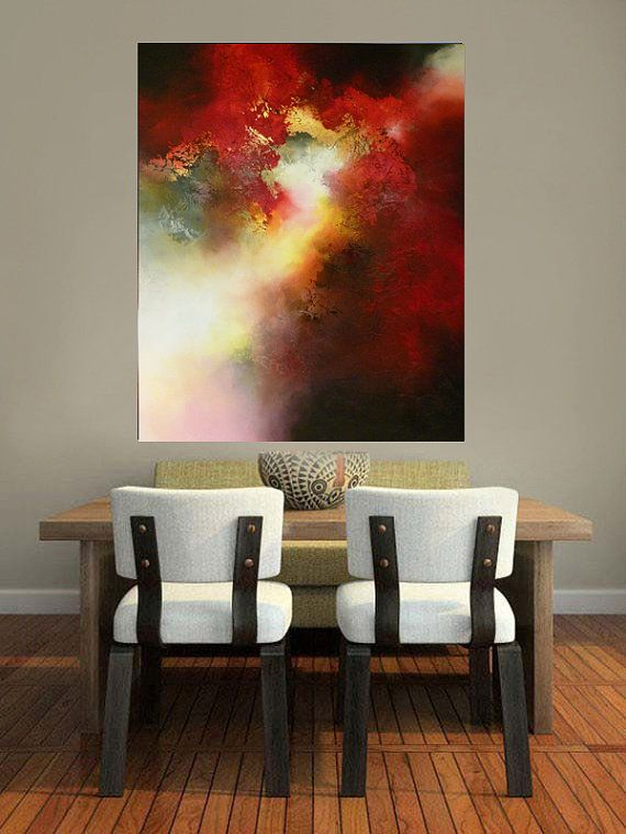 Gran lienzo abstracto por Simon Kenny por SimonkennysPaintings