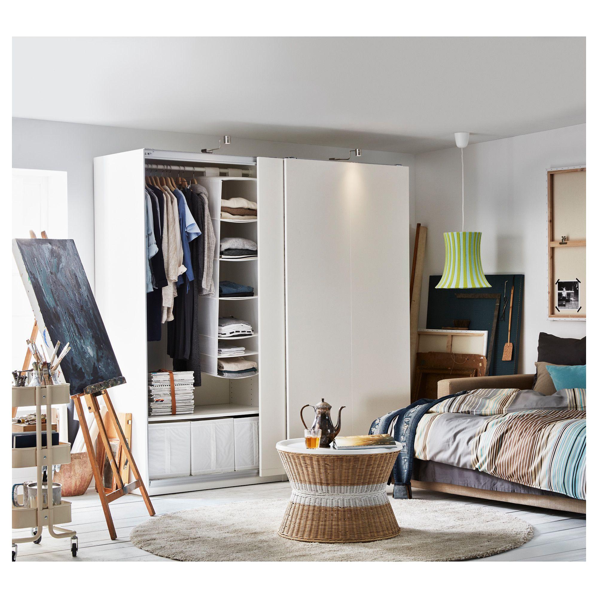Pax Wardrobe White Hasvik White Closet In 2019 Ikea