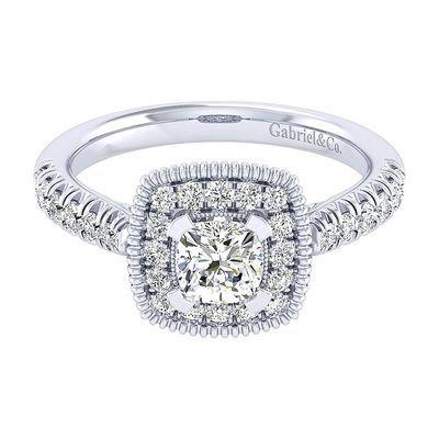 Platinum Diamond Straight Engagement Ring Setting ER039B3AKPT4JJ