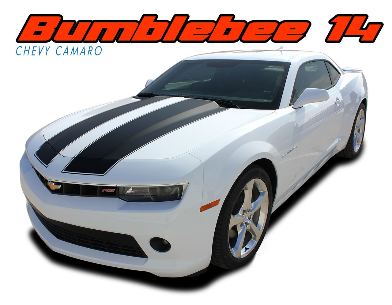 Bumblebee 14 2014 2015 Chevy Camaro Transformers Style Hood Vinyl Graphics Racing Stripes Kit For V6 Coupe Models Chevy Camaro Camaro Vinyl Graphics