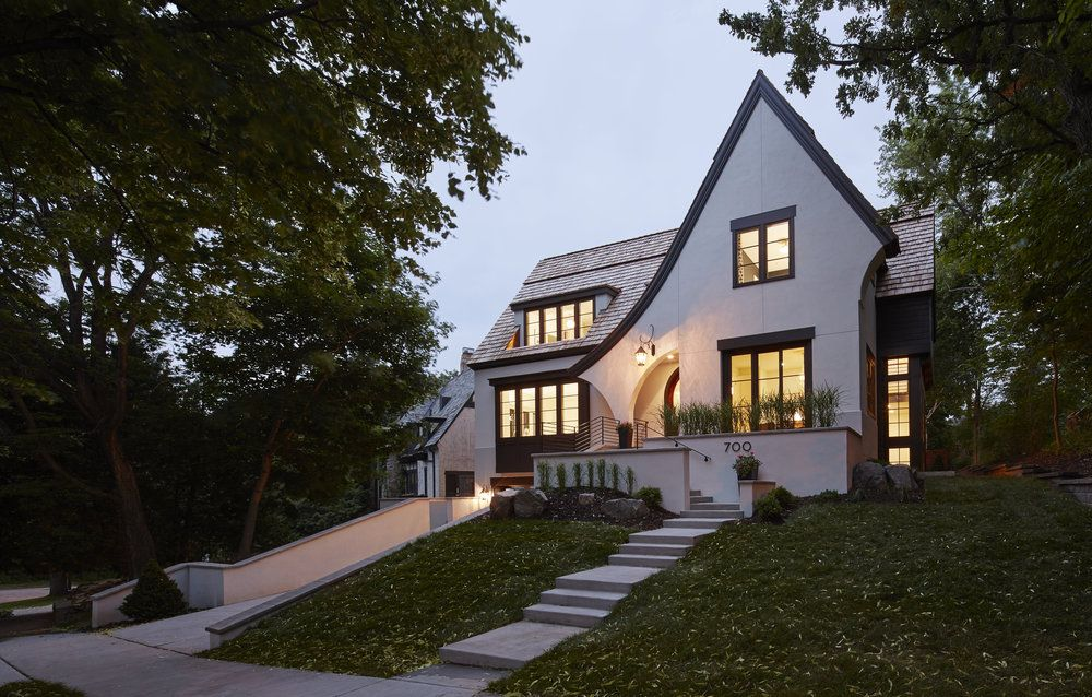 Modern Tudor Homes this home will surprise you with its modern interior - great