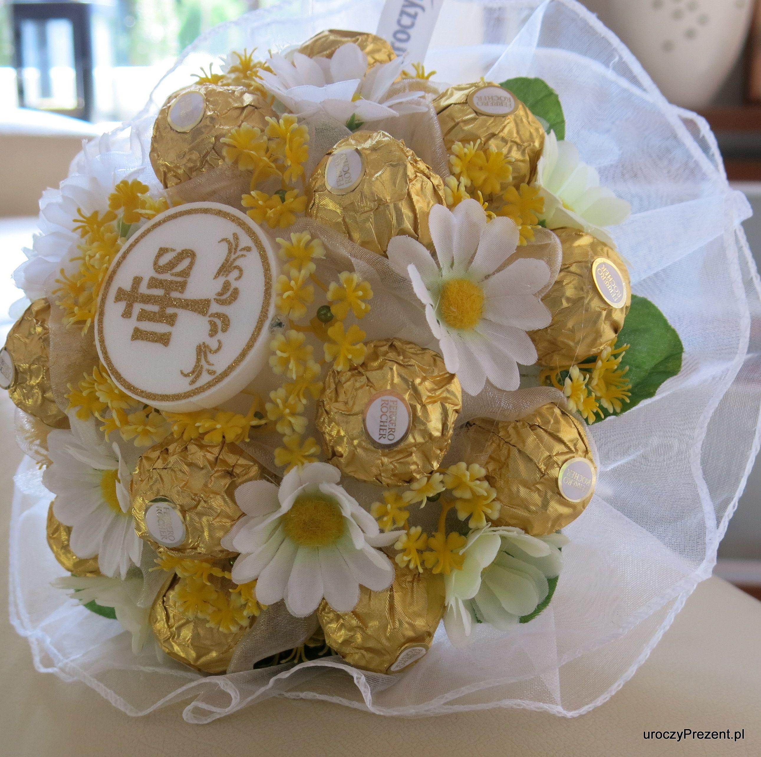 Bukiet Z Cukierkow Na I Sza Komunie Sw Www Uroczyprezent Pl Sweet Bouquet Diy And Crafts Crafts