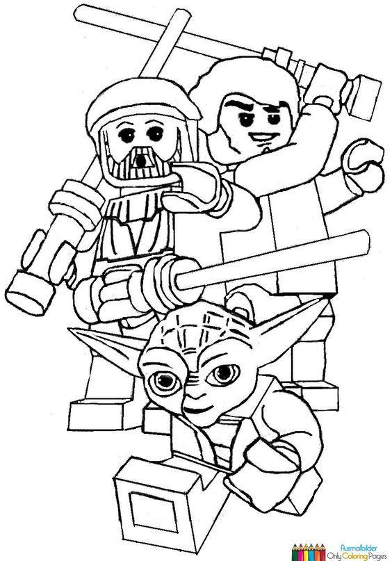Ausmalbilder lego star wars 827 Malvorlage Lego