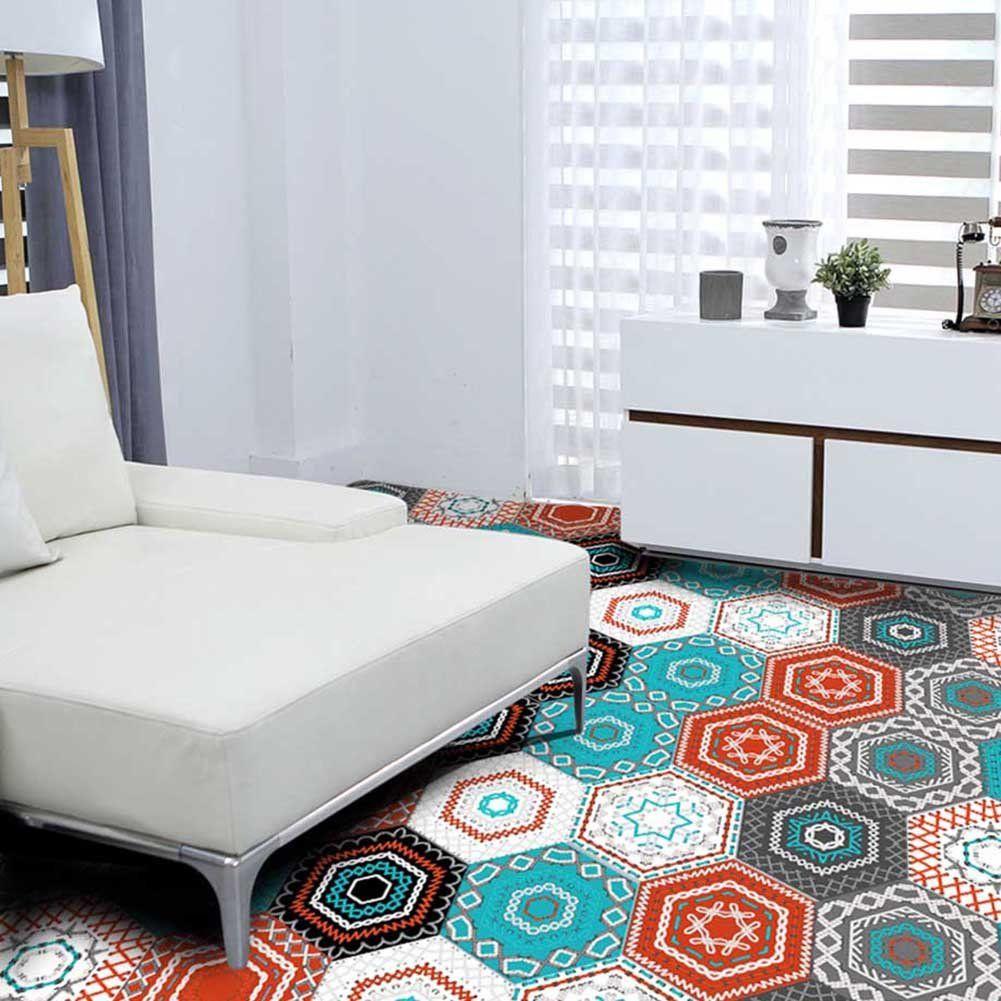 Buy Fancyku Pvc 10 Pieces 3d Anti Slip Hexagonal Removable Mural Stickers 20x23cm Online Waterproof Bathroom Flooring Wall Stickers Wallpaper Adhesive Tiles