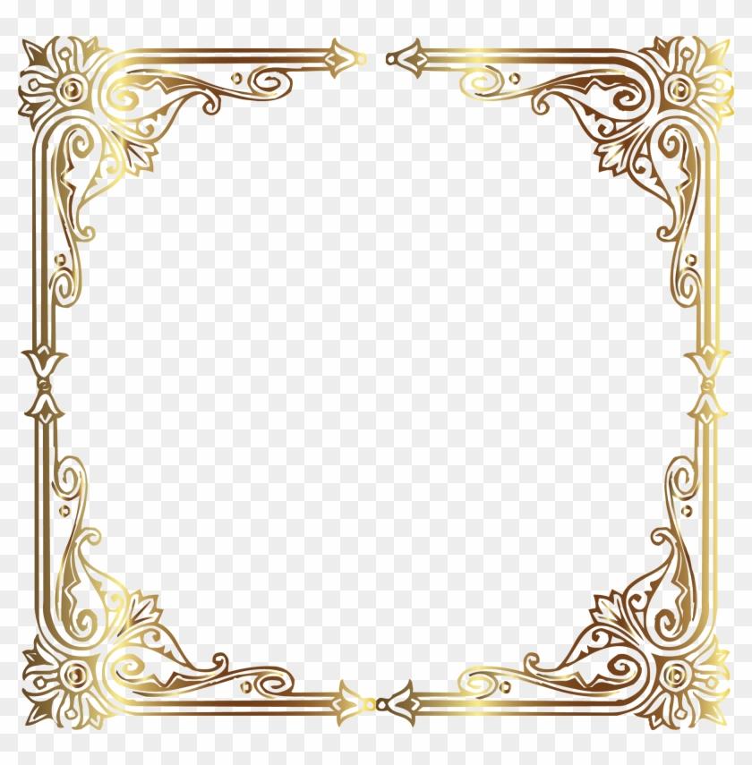 Find Hd Vintage Gold Frame Gold Frame High Resolution Hd Png Download To Search And Download More Free Transpare Gold Frame Flower Frame Png Vintage Frames