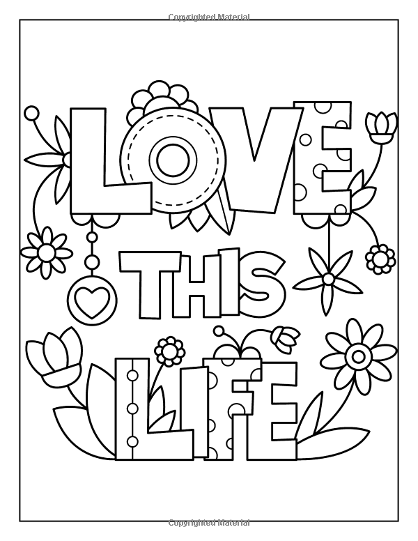 Inspiring Quotes To Color Alisa Calder Love Coloring Pages Coloring Pages Quote Coloring Pages
