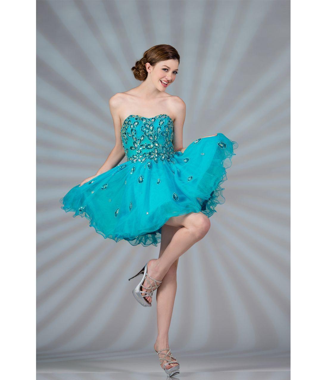 Blue strapless tulle short prom dress dresses pinterest short