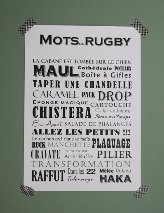 the words of rugby rugby pinterest rugby dessin rugby et faire soi meme. Black Bedroom Furniture Sets. Home Design Ideas