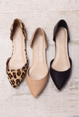 Women Leather Flats Fashion Shoes Pointed Shoes Breathable