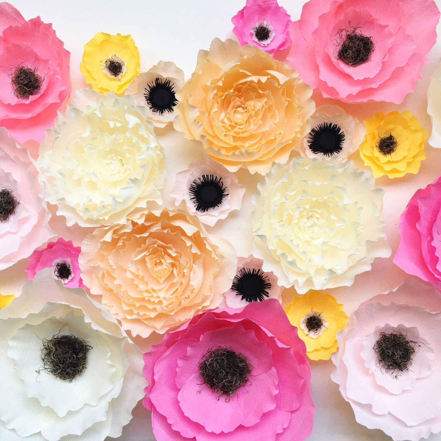 Crepe paper flower wall art | Our products | Pinterest | Crepe paper
