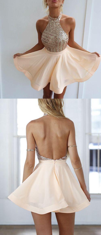 2018 Abendmode, Kurzes Kleid Rückenausschnitt | Elegante ...