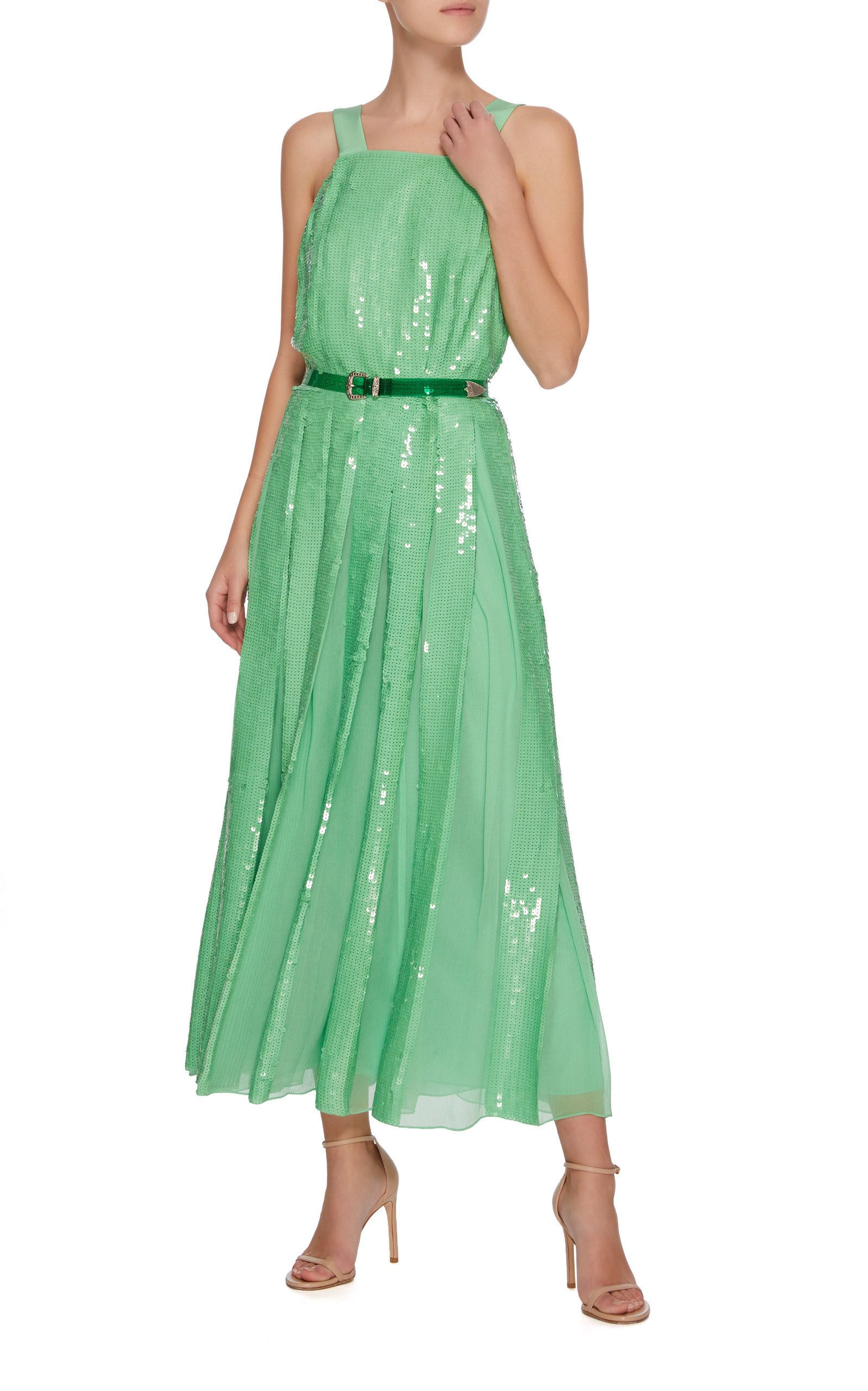 fa42894eb82 Sequin Overall Dress by TIBI Now Available on Moda Operandi