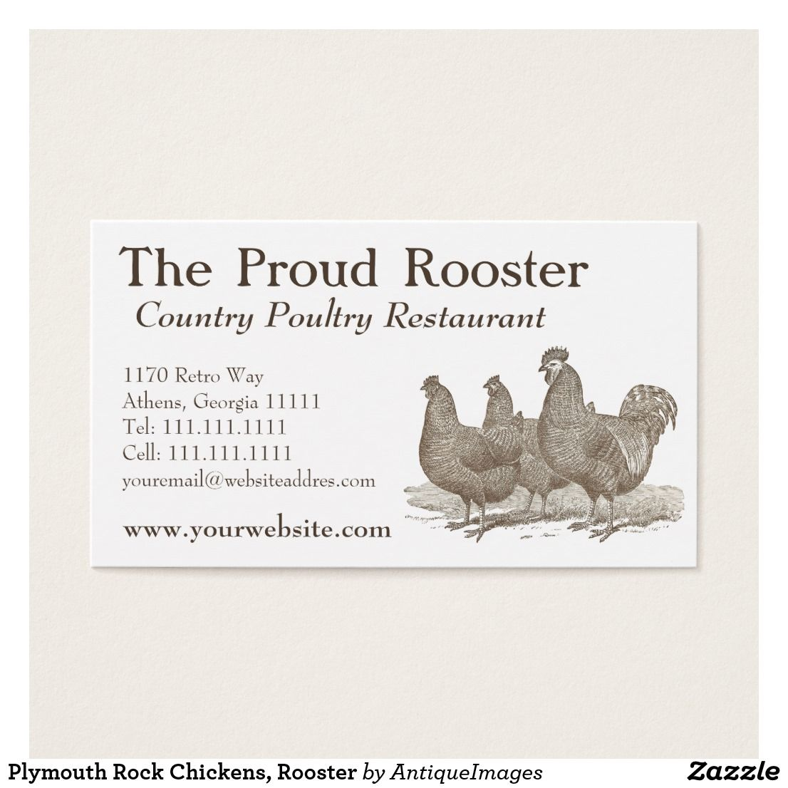 Plymouth Rock Chickens Rooster Business Card Zazzle Com Plymouth Rock Chicken Plymouth Rock Best Egg Laying Chickens