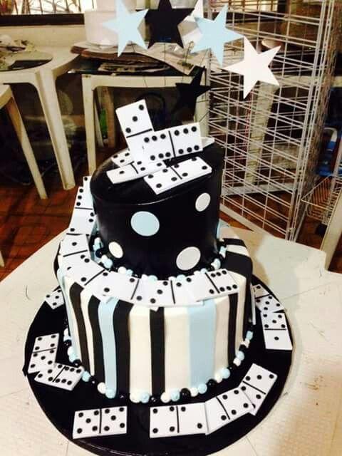 Dominoes cake Mens Birthday Cake Pinterest Cake Birthday