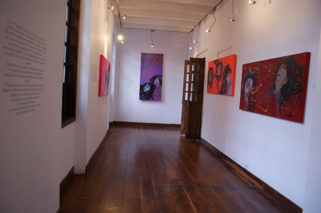 """Today we're open from 9:30 a.m. to 6:00 p.m.  As usual the admission is free and the good news is that we have decided to extend the exhibition """"La petite mort"""" artist Lilia Isabel Miranda untill the 25th of August.  The bad news is that tomorrow we'll make the announcement in French (and I still don't know why this one is in *English*)"""