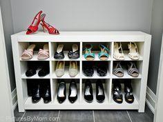 IKEA Shoe Racks for Closets | IKEA HACK – How To Build A Shoe Rack From An IKEA EXPEDIT Shelving ...