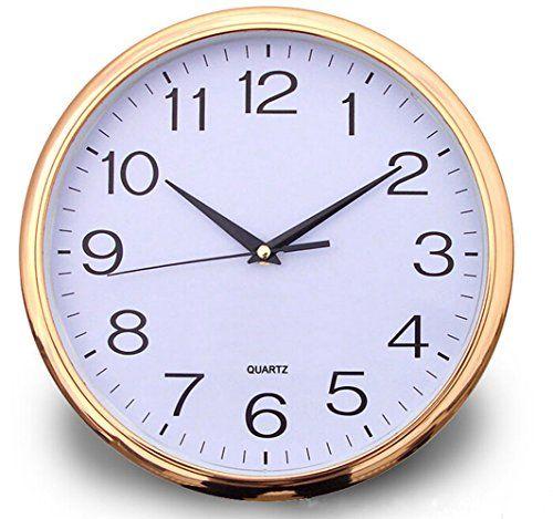 Bekith 12 Inch Modern Style Round Wall Clock Golden Bekith Http Www Amazon Com Dp B00qa92n46 Ref Cm Sw R Pi Dp Oxalvb12ykq Wall Clock Round Wall Clocks Clock