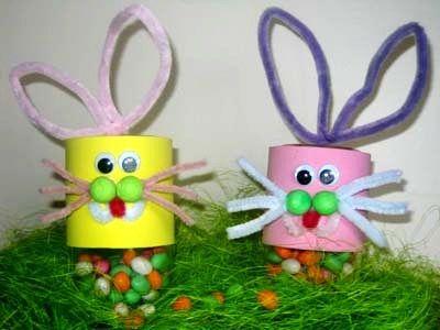 bricolage enfant lapin de Pâques