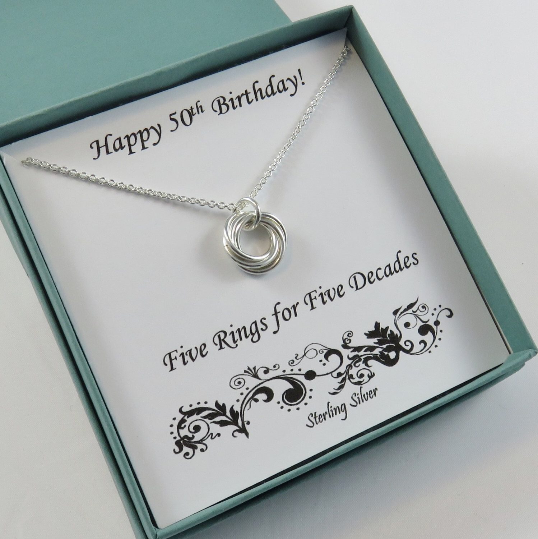 50th birthday gift for women 50th birthday sterling