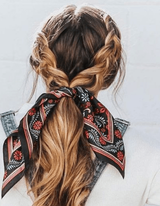 25 Cutest Back to School Scarf Hairstyle #mydailypins.com #womenfashionideas #wo... - Welcome to Blog