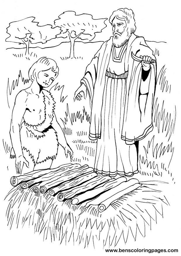 abraham coloring pages - Abraham And Isaac Coloring Page