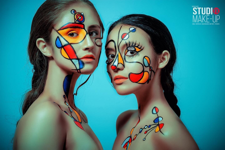 Este hermoso maquillaje inspirado en las obras surrealistas de Joan Miró, pinto… – Maquillaje