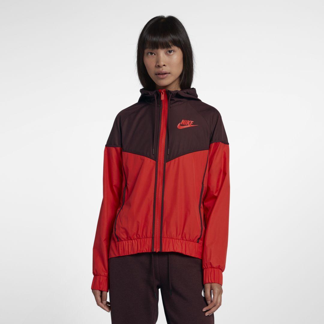 bac4f285c235 Nike Sportswear Windrunner Women s Jacket Size 2XL (Habanero Red)