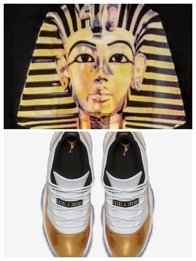 ac3b834cd0bdc6 Shirt to Match Air Jordan Retro 11 Low Gold Closing Ceremony - Displays  King Tut  Delta  GraphicTee