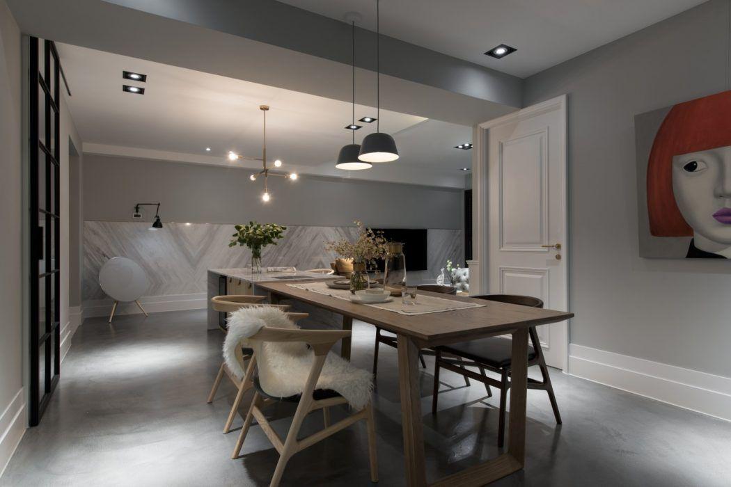 Minimalistisch modern en klassiek chique woonkamer woning