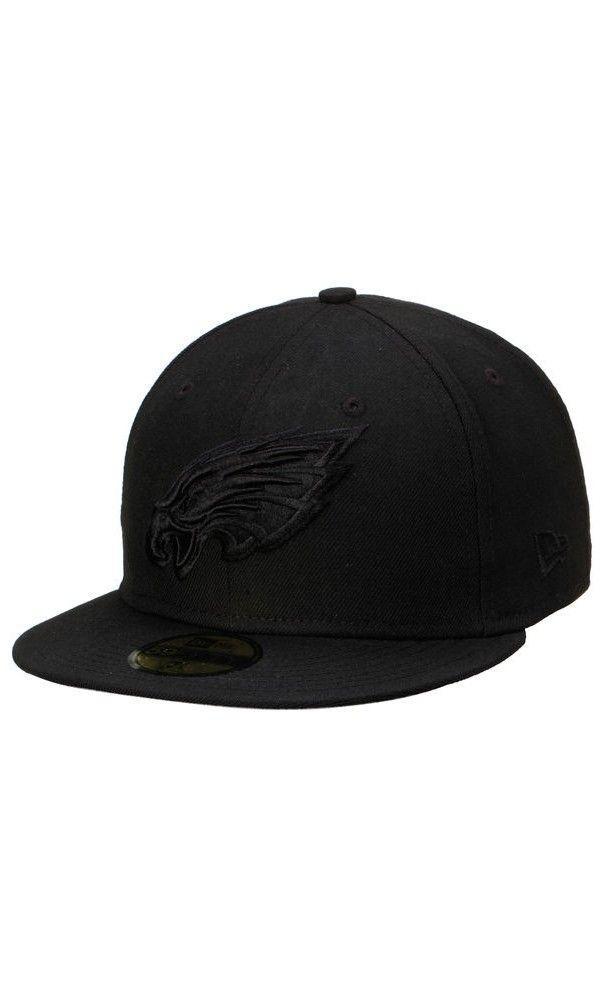 NFL Men's Philadelphia Eagles New Era Black Tonal 59FIFTY Fitted #Hat  #sport