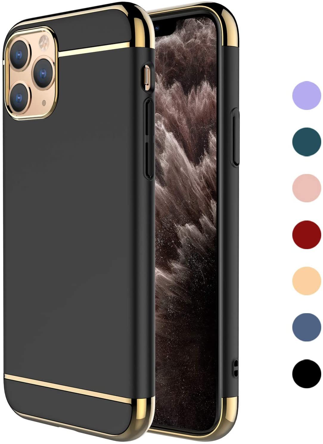 Iphone 11 Pro Max Case 3 In 1 Ultra Thin And Slim Hard Case Coated Non Slip Matte Surface Iphone Iphone 11 Apple Iphone