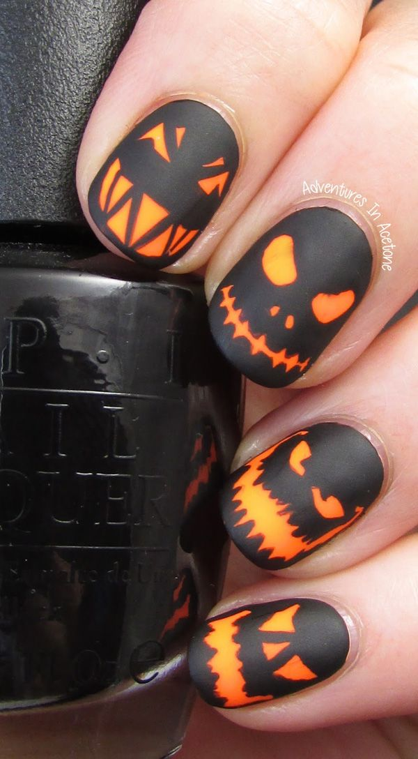 40 Halloween Nail Art Ideas Nenuno Creative Halloween Nail Designs Fall Nail Art Nail Art Designs
