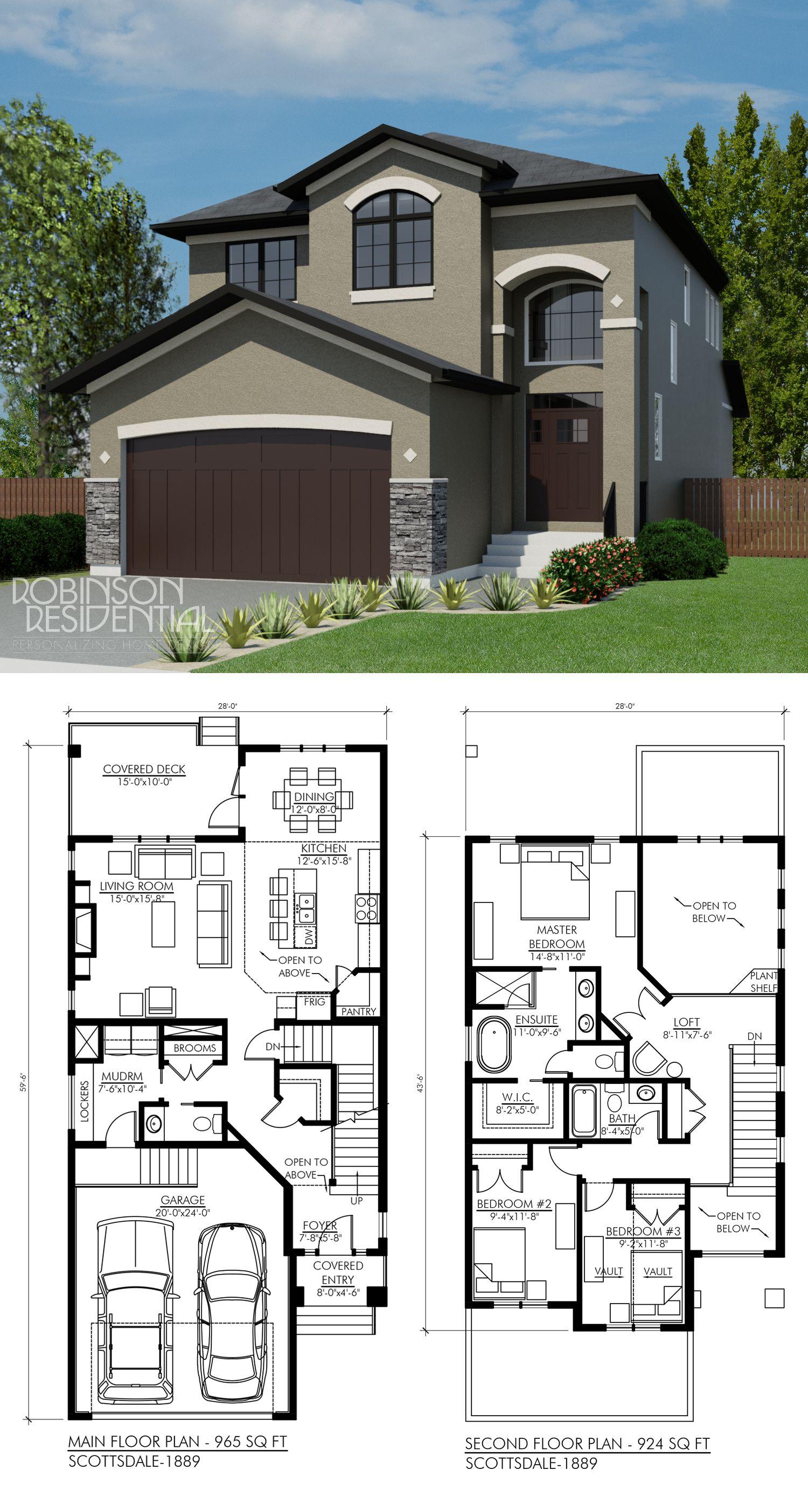 Mission Scottsdale-1889 - Robinson Plans | Sims house ...