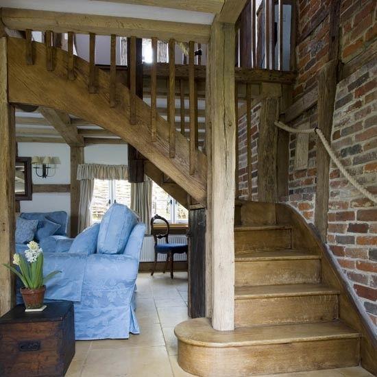 Flur Diele Wohnideen Möbel Dekoration Decoration Living Idea Interiors Home  Corridor   Eichenbalken Flur