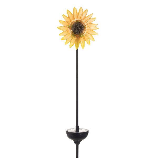 Incroyable Solar Sunflower Garden Stake   Bed Bath U0026 Beyond