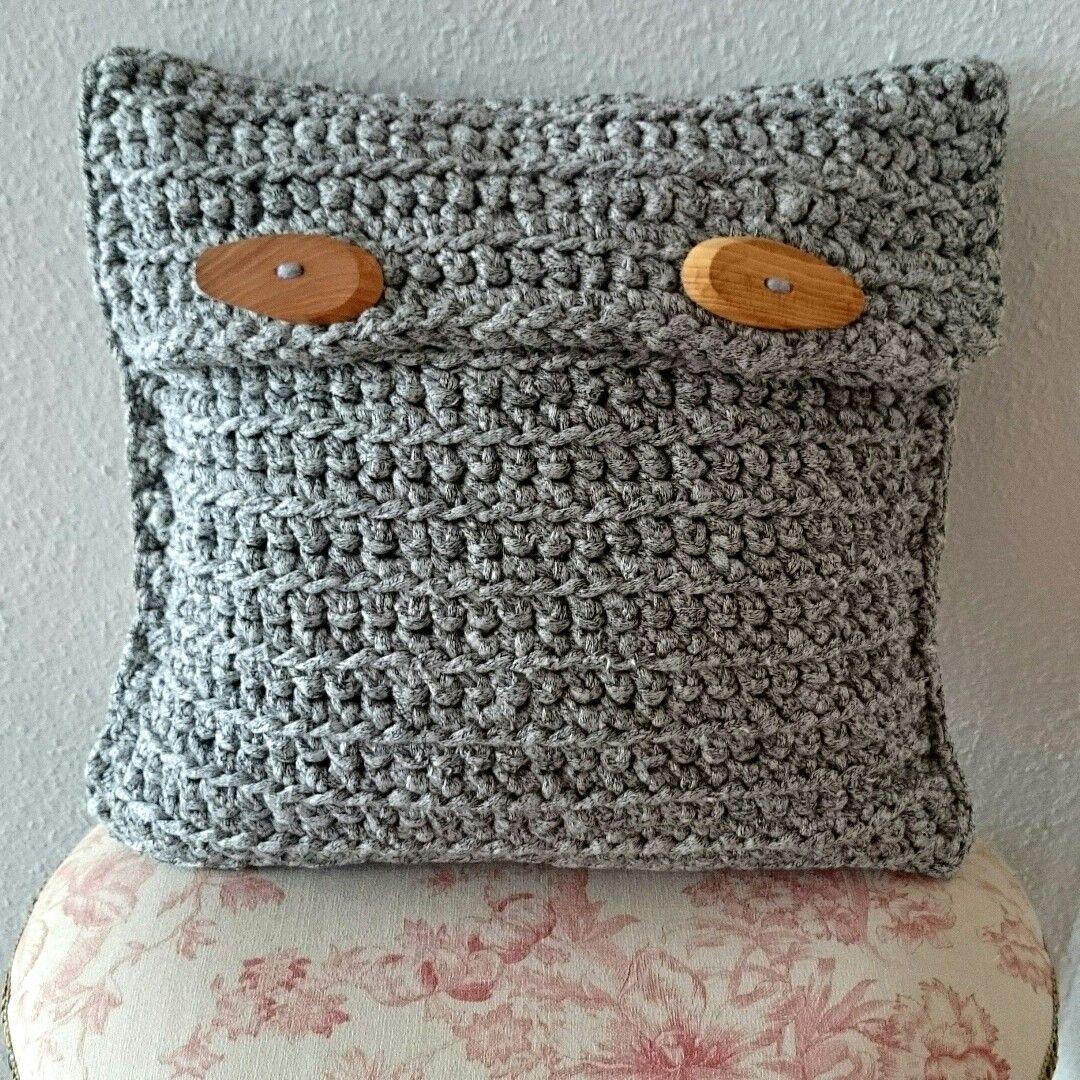 Kissen Aus Textilgarn Home Deko Gehäkelt Pinterest Upcycling