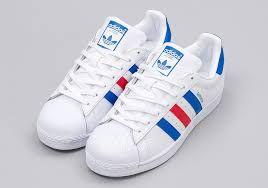 | Adidas Superstar Originals BB0354 Wit Rood Blauw