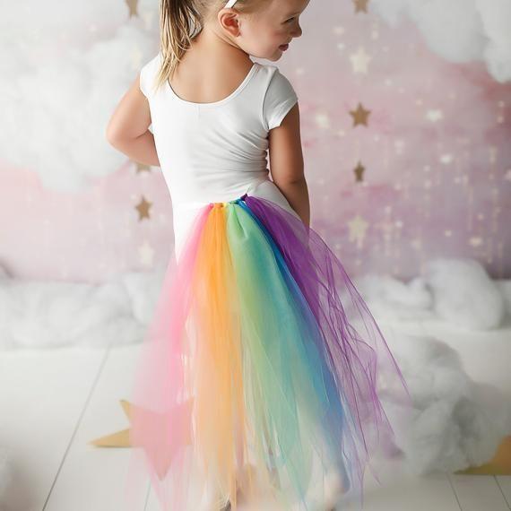 fbae41bebc75 Rainbow Unicorn Costume - Girls Unicorn Costume - Rainbow Unicorn Tail  Costume - Adult Unicorn Costu