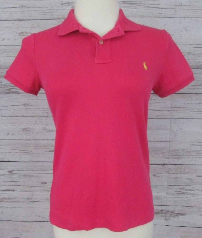 Junior Slim Top Polo Size Ralph Sport Medium Pink Shirt Lauren Fit XuPTwZiOk